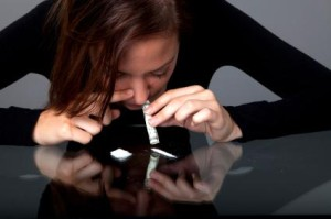 Lady Snorting Oxycodone