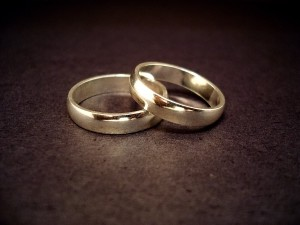 Wedding rings of someone who married a sex addict