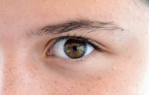 a person's eye while battling Holiday Blues