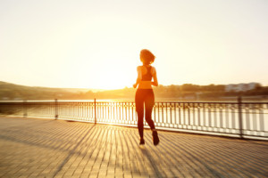 Woman jogging for her Recovery