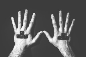 hands of someone in Recovery