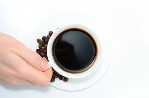 Cup of coffee with Caffeine