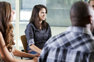 Girl sharing in Addiction Support Groups
