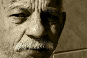 Old man with mustache