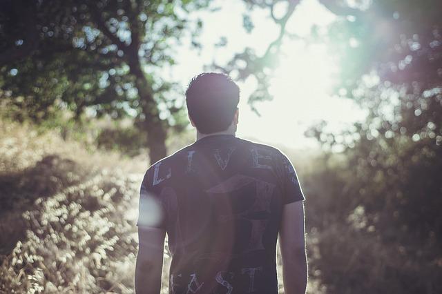 man on trail
