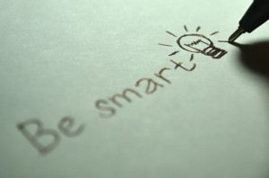 Be smart written on paper