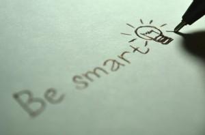 Be smart written on paper