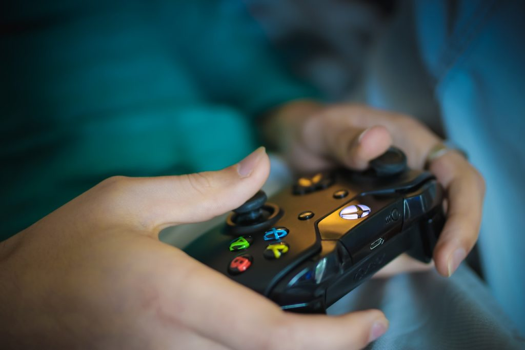 Video game controller used in Internet Gaming Disorder