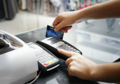 Credit Card Swipe At Store