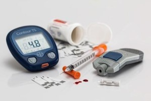 Diabetic medication and blood test equipment