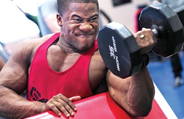Man using ephedrine to lift heavier weights.