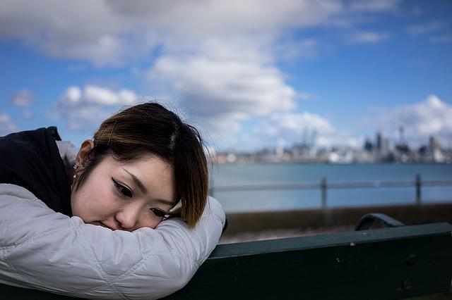 Woman suffering from Fibromyalgia.