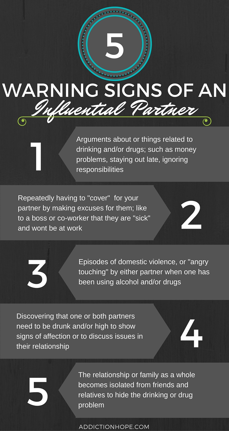 5 Warning Signs Of An Influential Partner Infographic