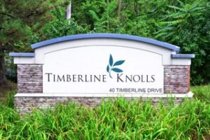 Timberline Knolls Sign