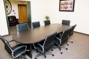 Reflections Recovery Center's conference table