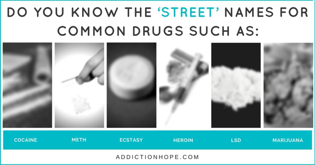 Different Drug Names Cocaine Heroin Marijuana - Addiction Hope