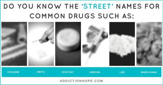 Different Drug Names Cocaine Heroin Marijuana - Addiction Hope