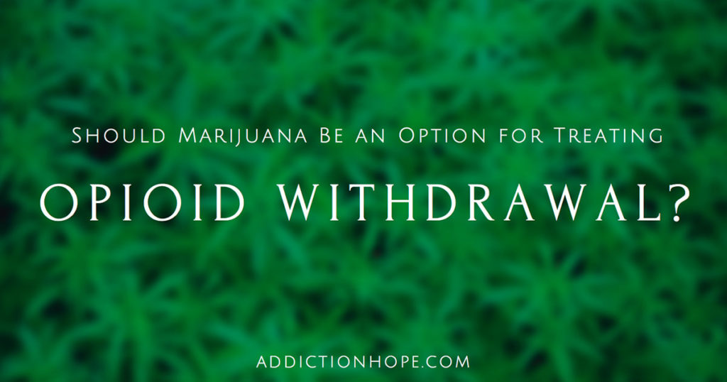 Marijuana For Opioid Withdrawls