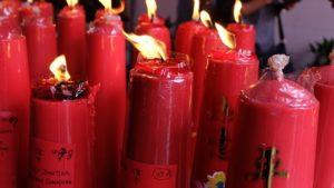 Altar Candles burning - addiction hope
