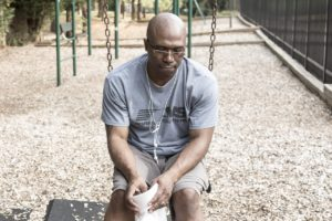 Man considering treatment for Chronic Pain and Substance Use Disorder