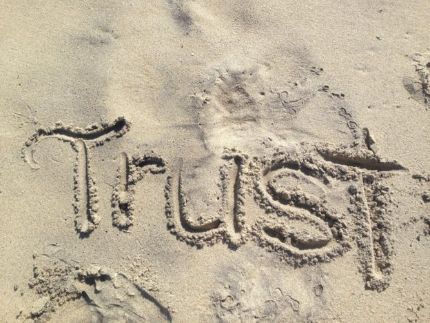 Trust in the sand
