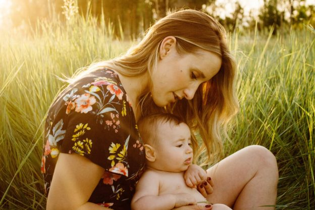 Mother not drinking during breastfeeding