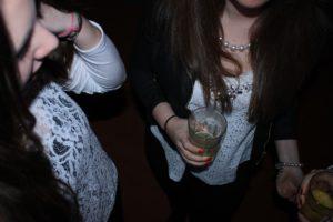 Teen girls drinking alcohol
