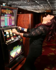 Woman with a gambling addiction