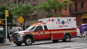 Ambulance Taking An Overdose Man To The Hospital