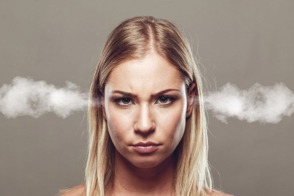 Woman struggling with an aggression disorder