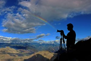 Cameraman and rainbow