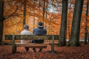 Couple in the fall