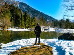 Man by a lake avoiding addiction relapse