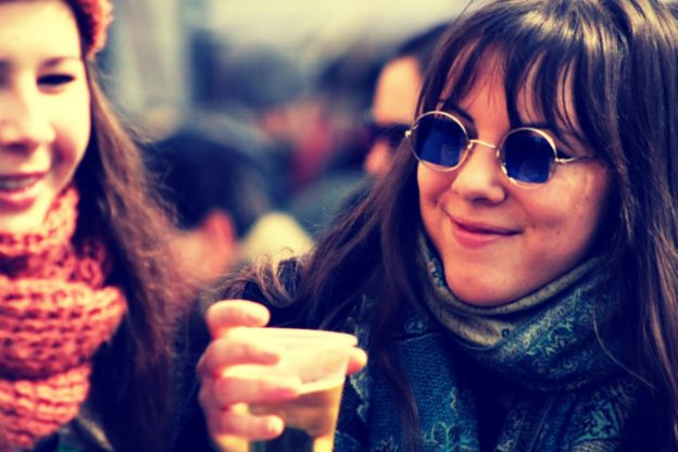 Women drinking alcohol