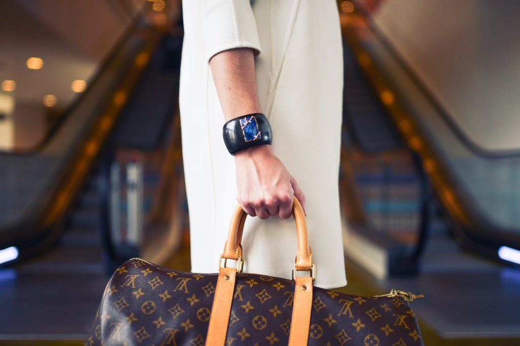 Woman entering luxury rehab