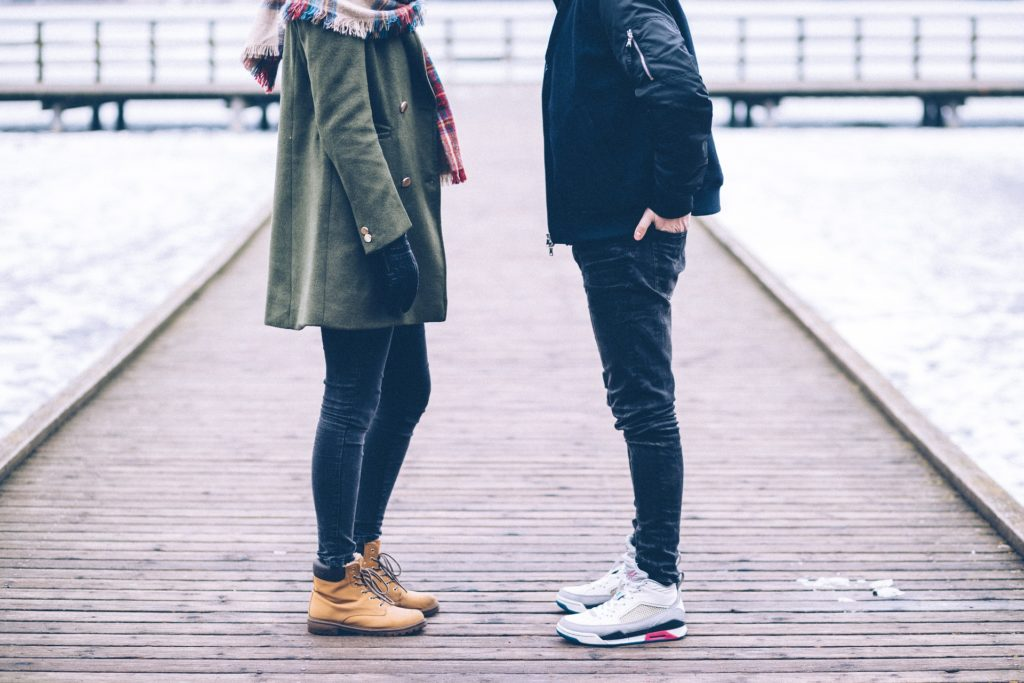 Couple standing on walkway