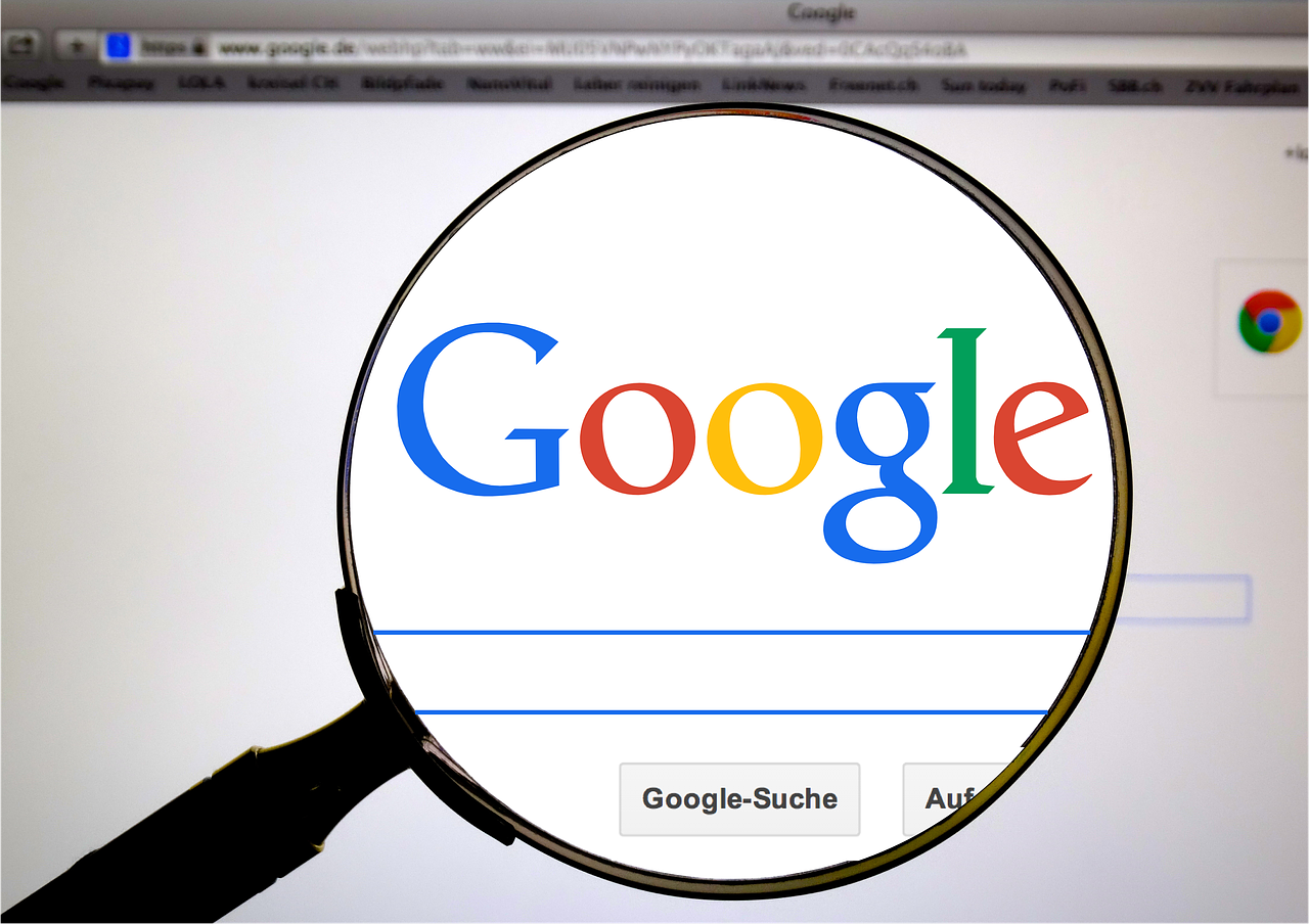 Google computer screen