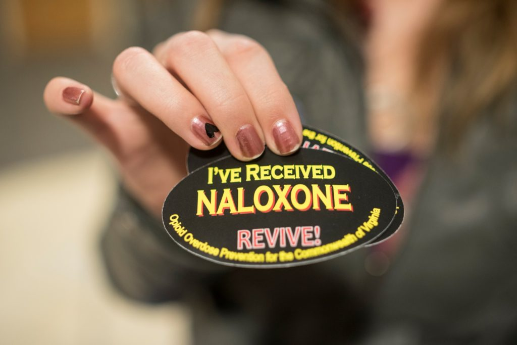 Naltrexone badge for Naloxone Diversion