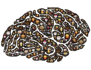 Image of brain with Substance Use and Mental Health issues