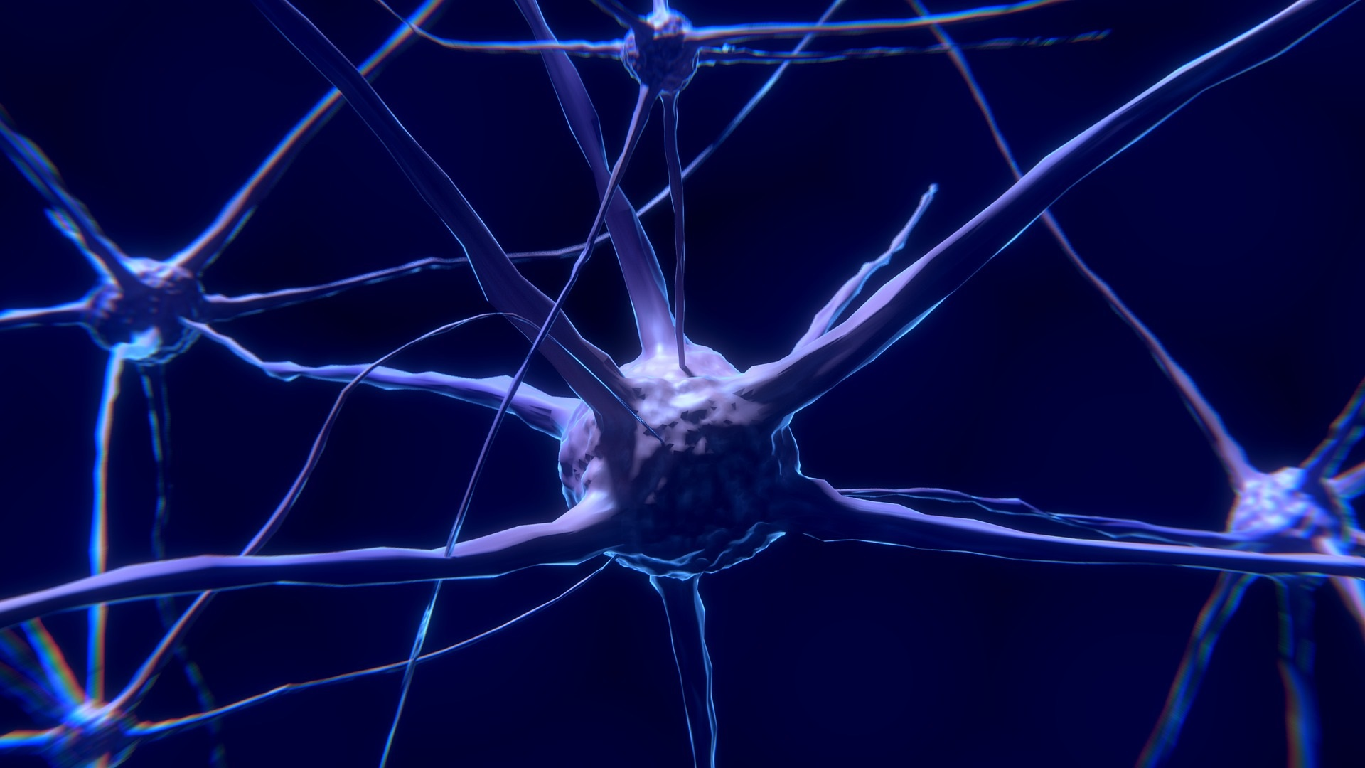 Image of neuron and the effects of alcohol on the human brain