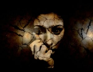 Shattered Image of a Woman