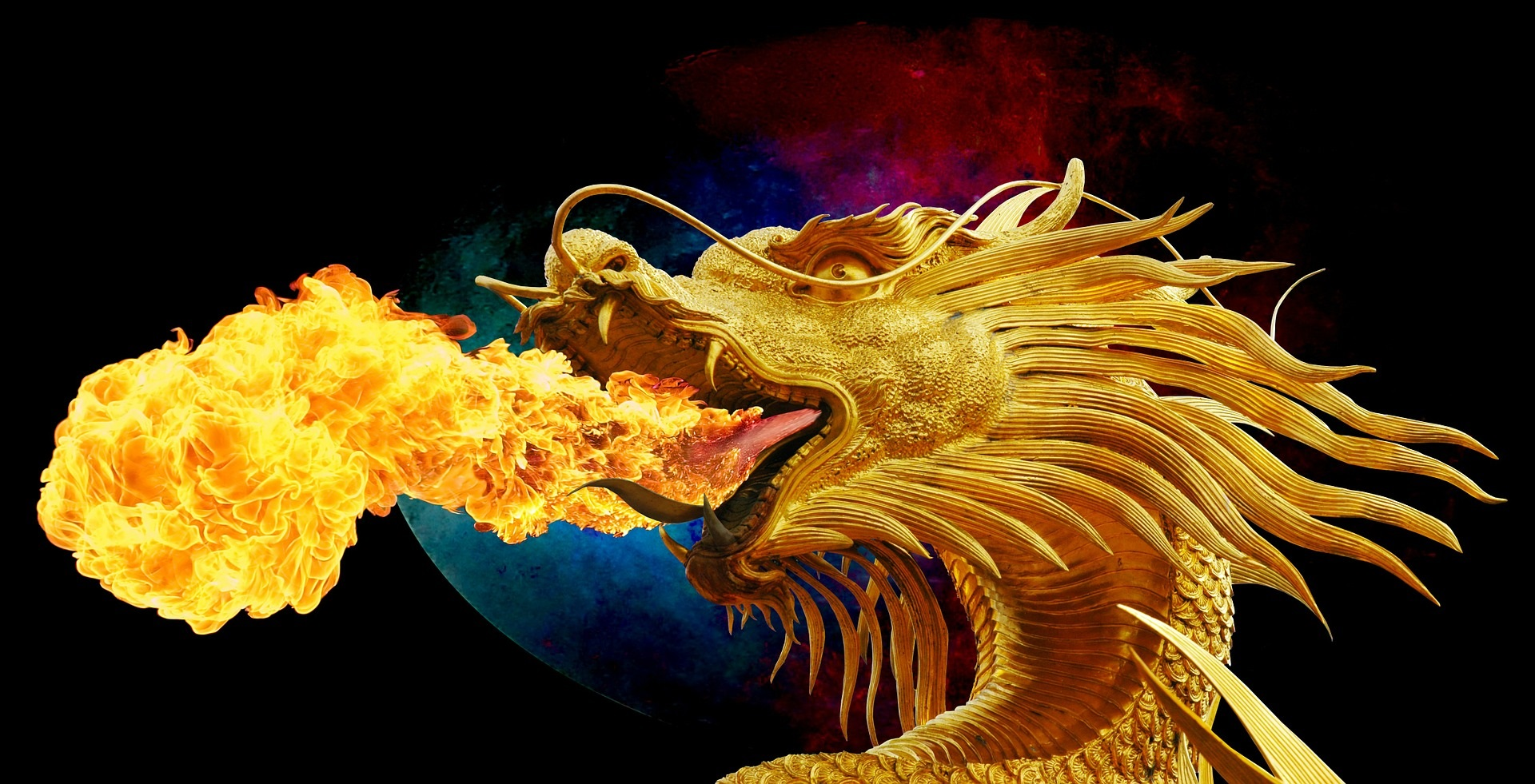 Image of a dragon representing Chasing the Dragon Inhaled Heroin