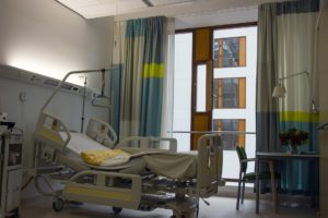 Hospital Room with Bed used during an opioid overdose