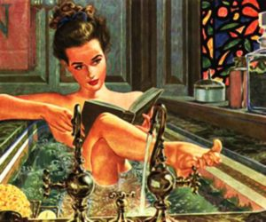 Lady using Alternative Options for escapism by taking a bath