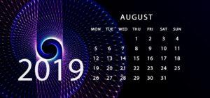 Aug 2019 Calendar