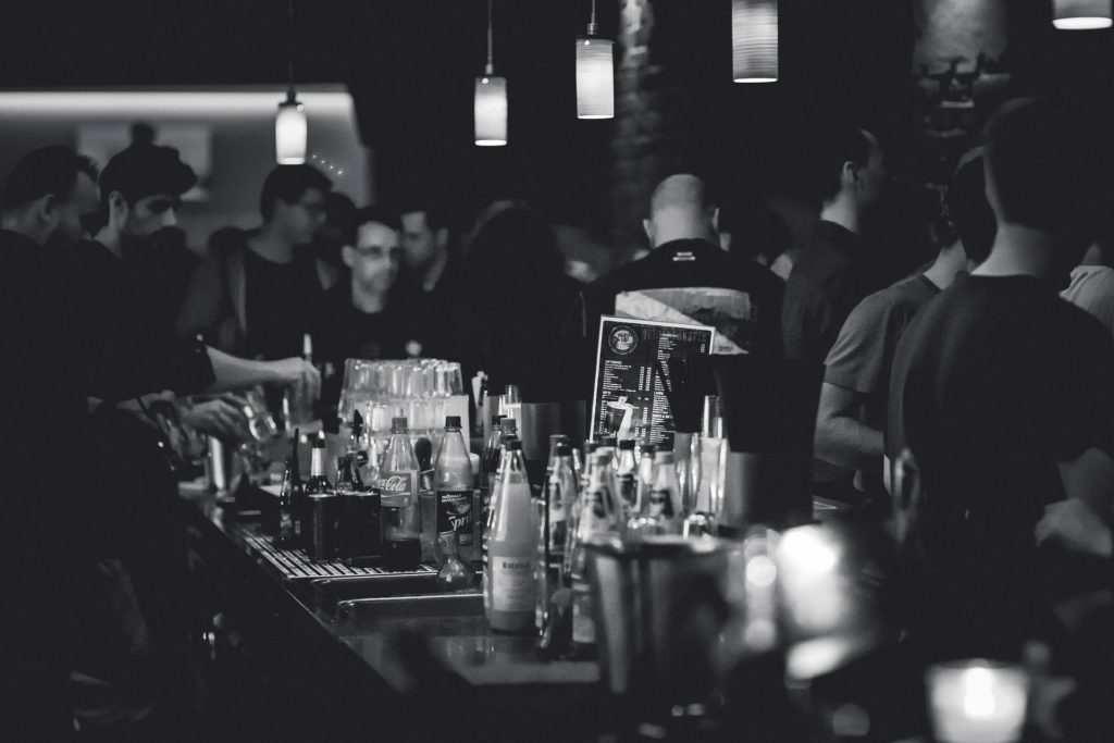a bar where Binge-Drinking and Long-Term Anxiety can occur