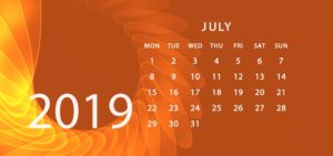 July 2019 Addiction Hope Calendar