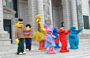 Sesame Street Characters - Bert, Ernie, Cookie Monster, Big Bird, Elmo, Grover, and Abby Cadabby