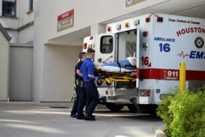 First Responders, Essential Workers and Ambulance at Hospital